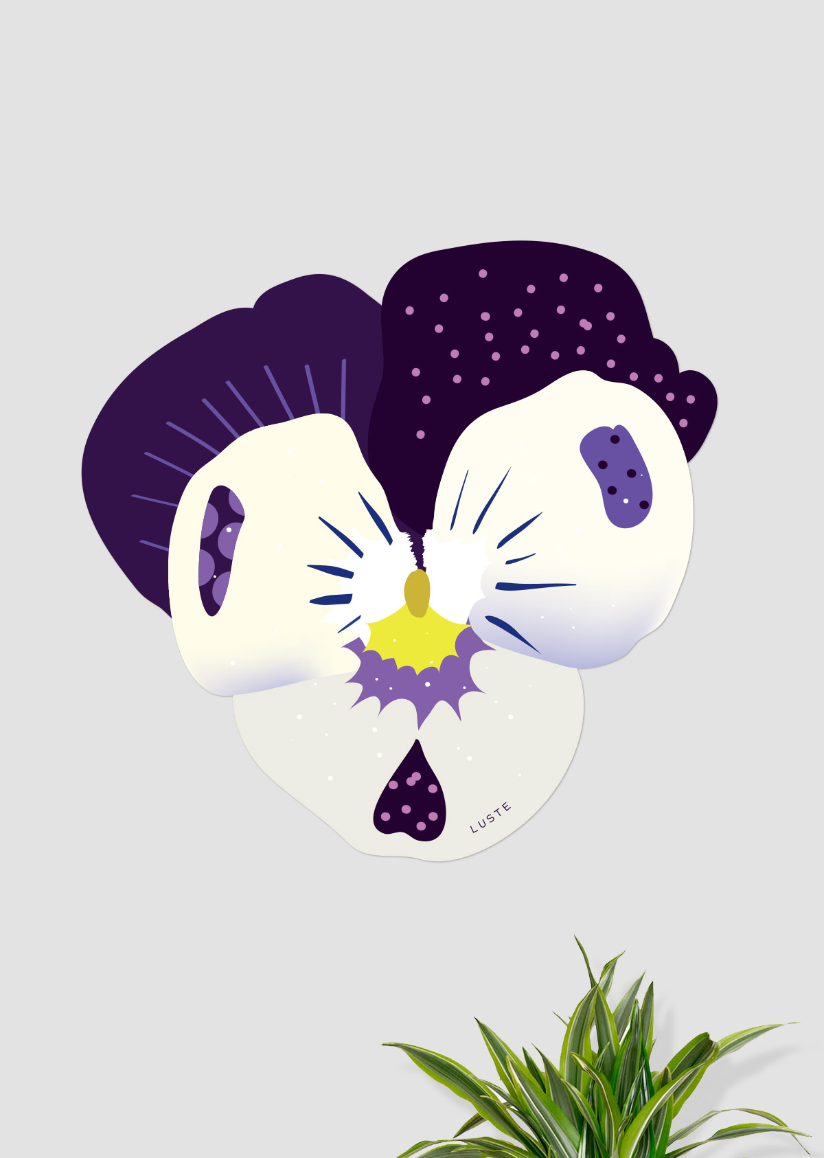 """Seinakleeps """"Võõrasema"""" lilla"""